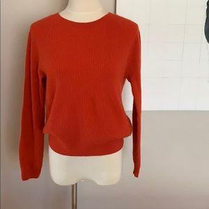 Vince cashmere orange sweater XS
